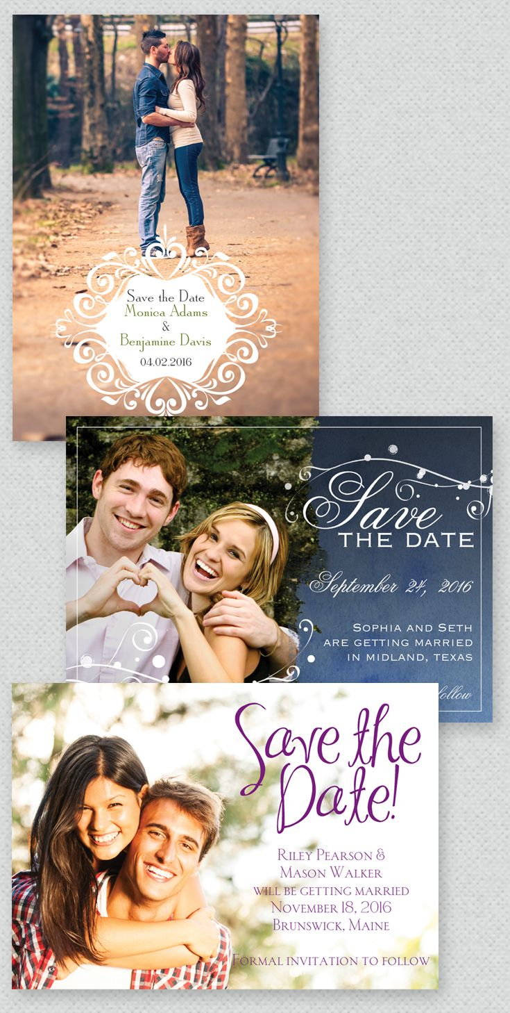 Save the Date tip: Send magnets! They're fun, functional and totally adorable.