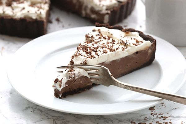 My new favourite keto dessert and it's so easy to make. It uses chocolate blender mousse and a no-bake crust.