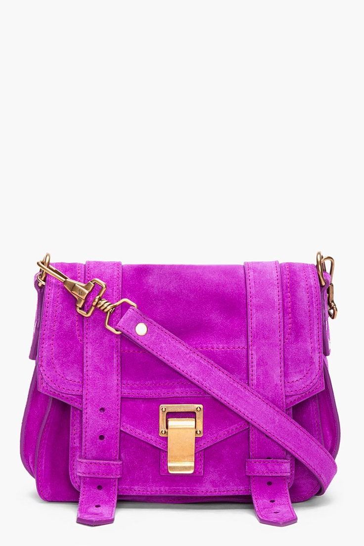 Happy Birthday To Me??   PROENZA SCHOULER PS1 Purple Suede Pouch Bag