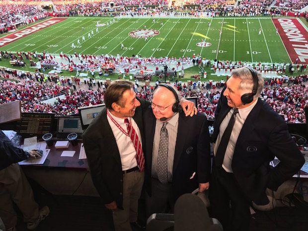 Joe Namath visits CBS booth during Iron Bowl 2016.....