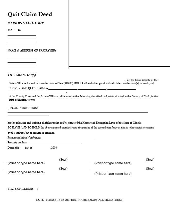15 Free Quit Claim Deed Template, Form (Word & PDF Di 2020