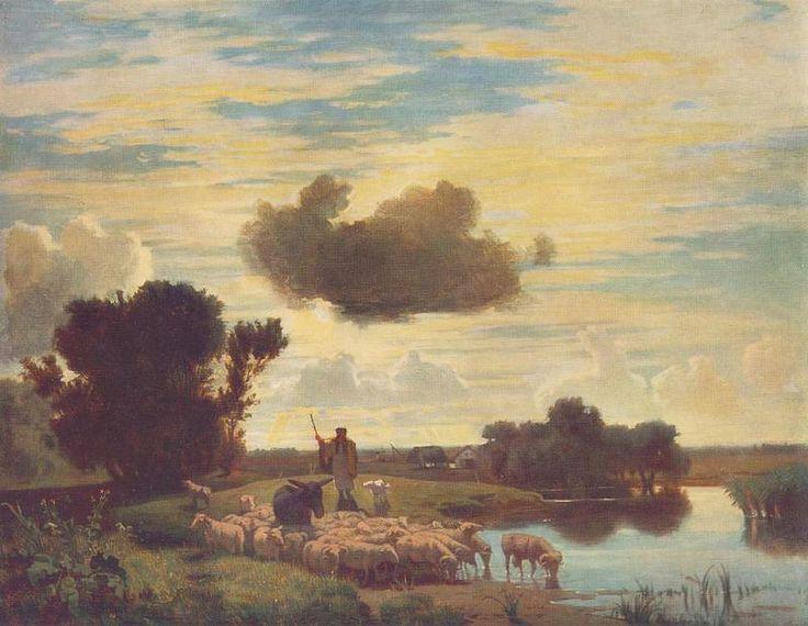 Károly Lotz (1833-1904) Twilight 1870 - Lotz Károly (festő) – Wikipédia   (Alkonyat)