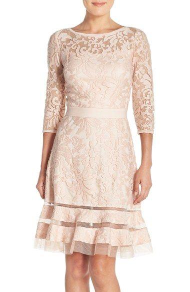 Tadashi Shoji Lace Overlay Dress (Regular & Petite) available at #Nordstrom
