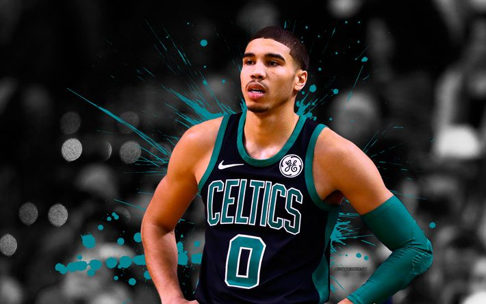 Download wallpapers Jayson Tatum, 4k, basketball players