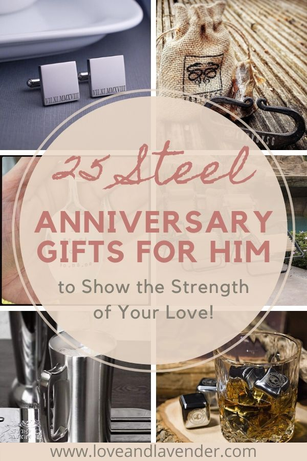 25 Steel Anniversary Gifts 11th Year To Show The Strength Of Your Love Steel Anniversary Gifts 11th Wedding Anniversary Anniversary Gifts