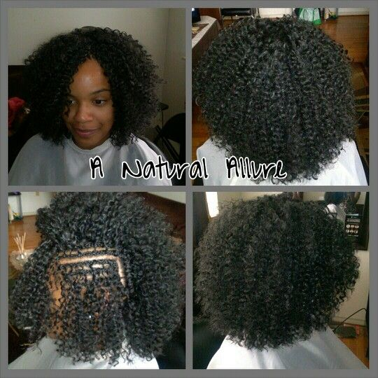 Crochet Braids Installed With Just Under 2 Packs Of Model