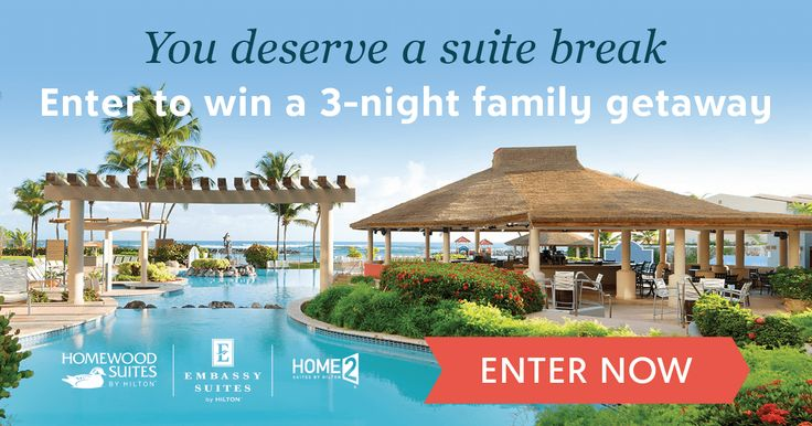 You and your family could win a relaxing three-night getaway, plus a $2,000 AMEX gift card for travel expenses! Enter here: zulily.com/lp/hilton-family-getaway-sweepstakes
