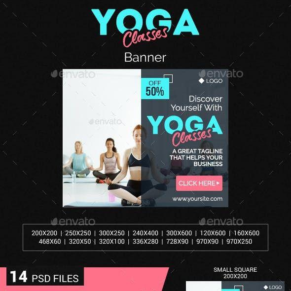 Yoga Classes Banner Yoga Class Banner Banner Ads