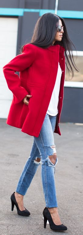 Red Taylor Coat by Walk In Wanderland