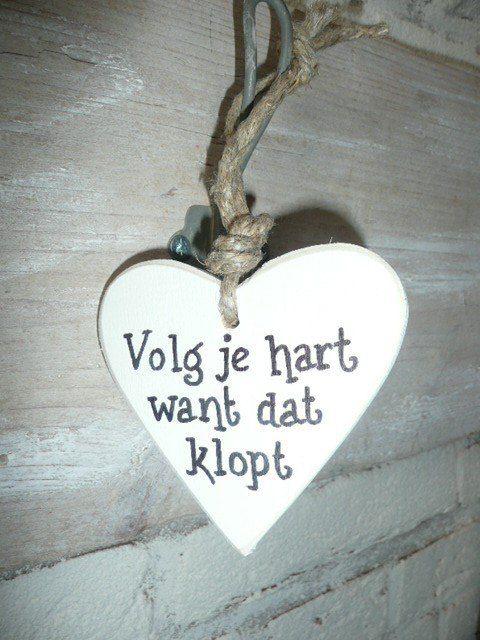 Volg je hart, want dat klopt. #harlequin #liefde #hart