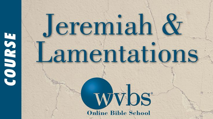 This is an-depth Bible course on the books of Jeremiah and Lamentations. Students will gain a deeper knowledge and acceptance of God's rule over all nations.