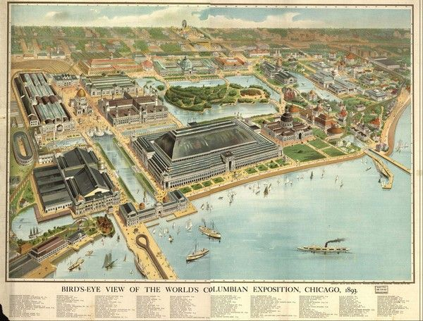 Chicago Columbian Exposition 1893 Map