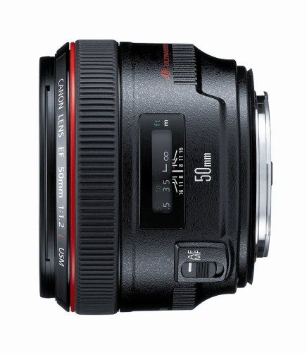 Canon EF 50mm f/1.2 L USM Lens for Canon Digital SLR Came... https://www.amazon.com