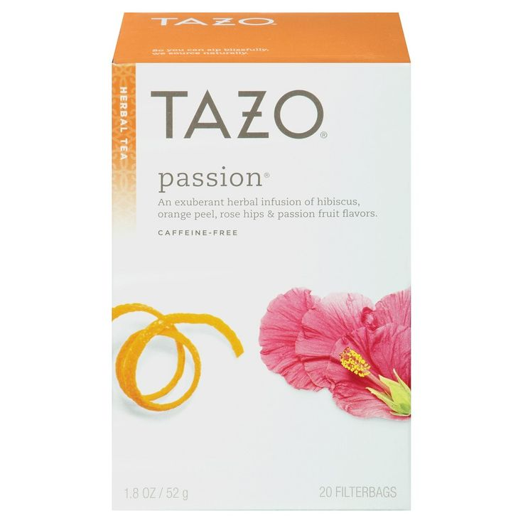 Tazo Passion Herbal Tea, Tea Bags and Pods