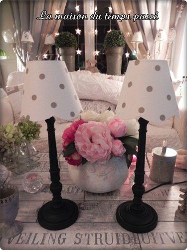 mes abat jour de la maison du temps pass abat jour fait. Black Bedroom Furniture Sets. Home Design Ideas