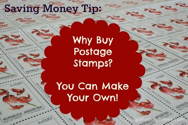 Why buy postage stamps?  We can make our own!