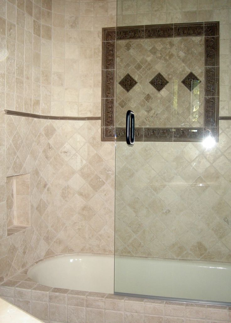 Tub And Tiled Shower Combo Showers And Bathtubs Tub