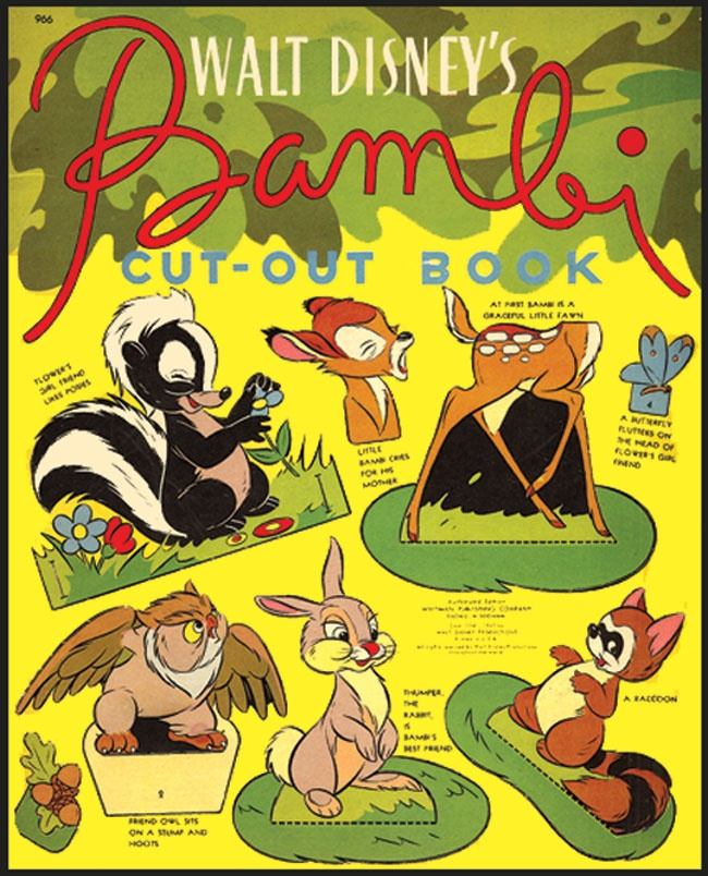Bambi Cut-Out Book