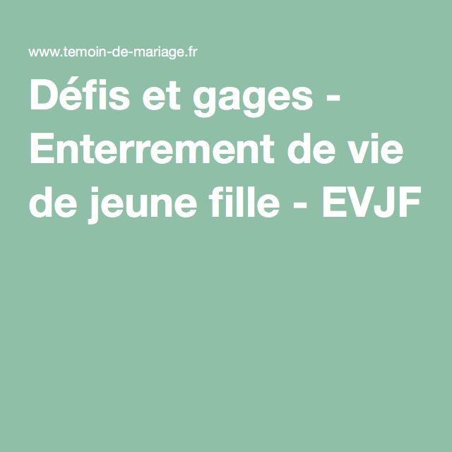 Défis et gages - Enterrement de vie de jeune fille - EVJF                                                                                                                                                                                 Plus