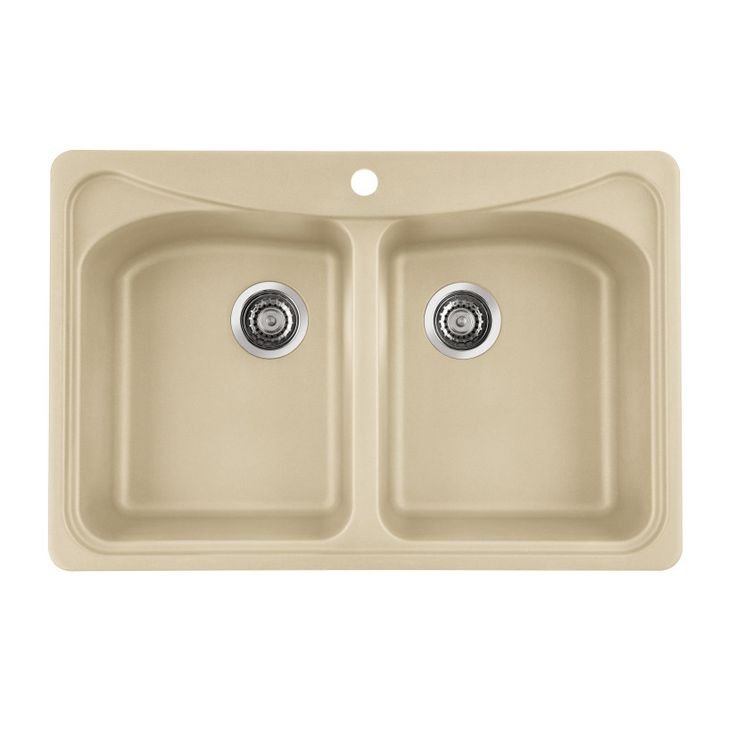 Granite Composite Undermount Kitchen Sink Deep Blanco Double Bowl