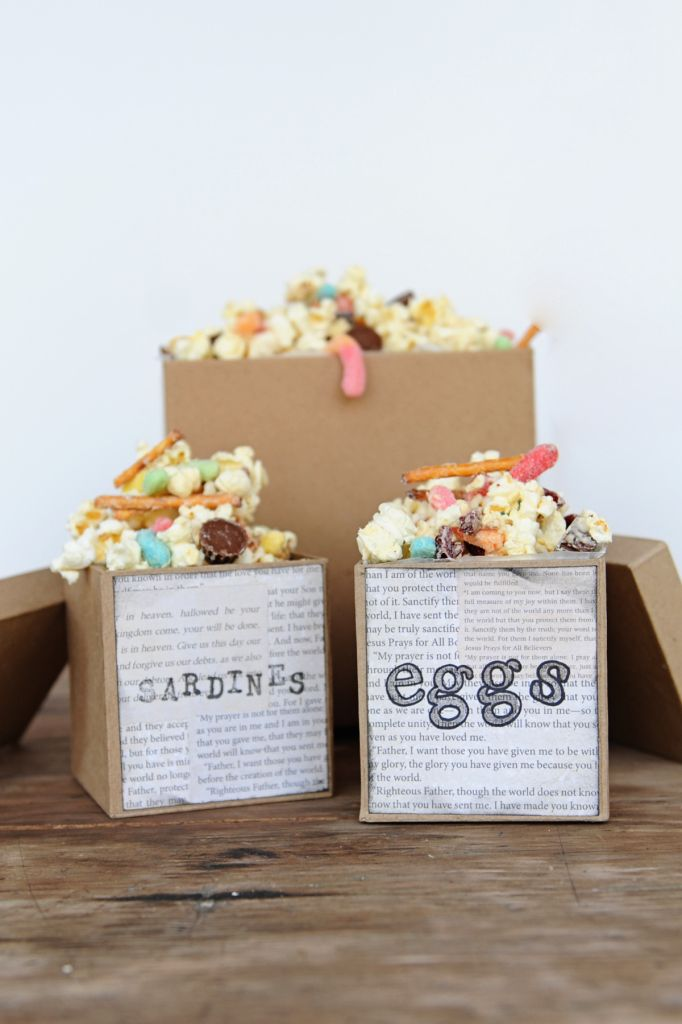 The Boxtrolls Family Movie Night: Popcorn Snack Mix Recipe and Party Craft Idea - Entertain | Fun DIY Party Craft Ideas
