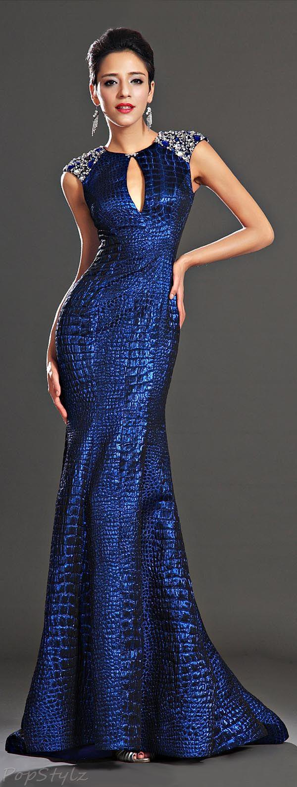 Sapphire Blue Evening Dress