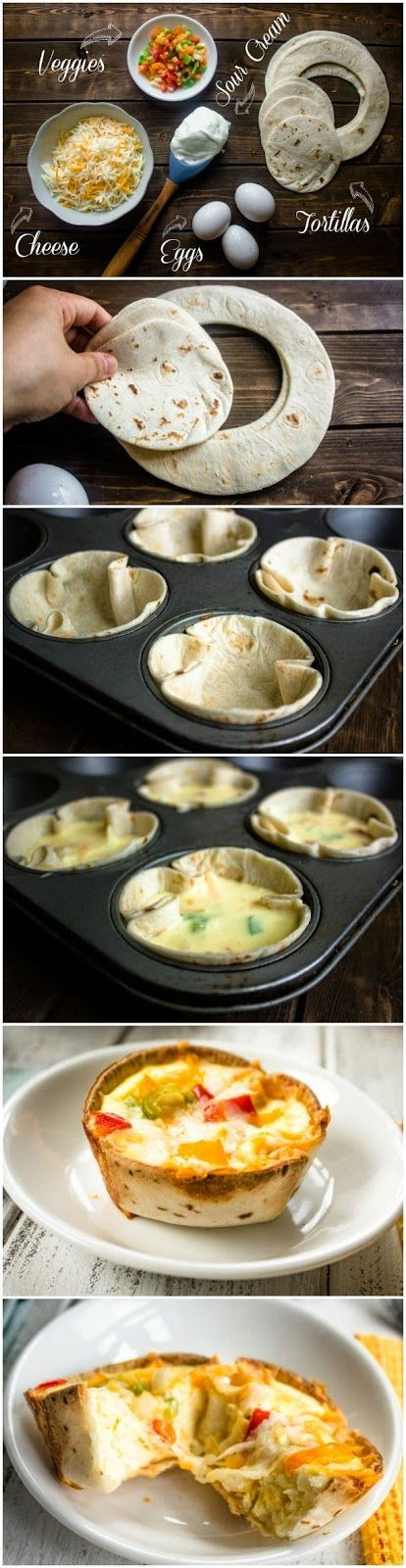 Mini Egg and Cheese Tortilla Cups, Great Recipe!