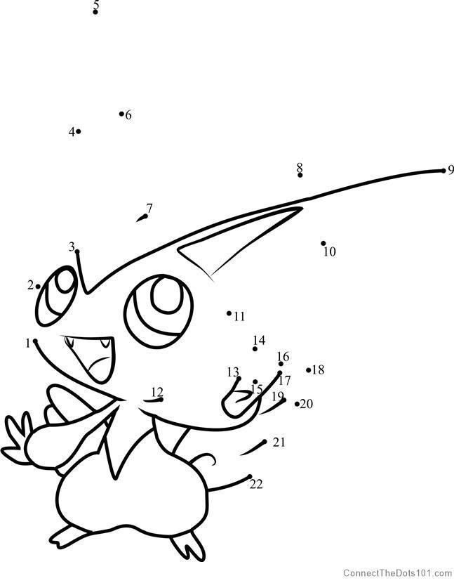 Pokemon Victini Dot To Dot Pokemon Pokemon Coloring Pages Santa Coloring Pages