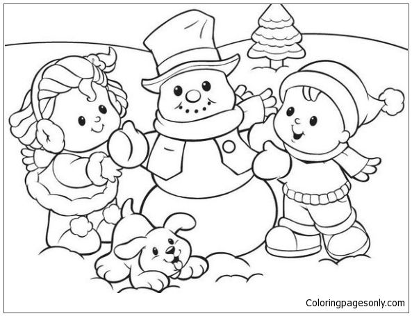 Snowman Preschool Coloring Page: This Winter Coloring Page Features A  Picture Of Snowman … Coloring Pages Winter, Snowman Coloring Pages,  Preschool Coloring Pages