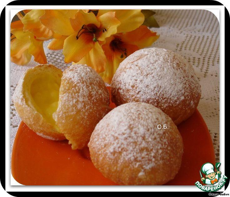 Пончики с заварным кремом ингредиенты