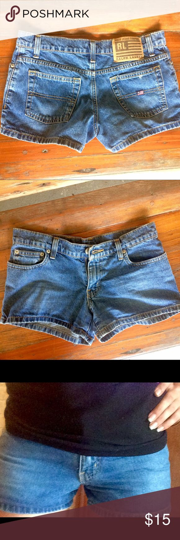 Ralf Lauren: Jean Shorts Ralf Lauren Polo Jean Shorts:                                  New Condition.   Size: 3/4.                                       Mid Waist rise                                                    Find me on Merc for even better deals!! Polo by Ralph Lauren Shorts Jean Shorts
