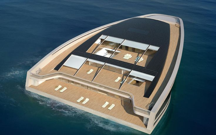 Des yachts pas comme les autres : Why Yacht, Wally & Hermès. Une île flottante de 200 mètres carrés, une terrasse de 25 mètres de long, cinq suites destinées aux passagers, une piscine de 25 mètres et une plage sur l'océan, avec bien sûr une salle de musique, de cinéma, une salle à manger en plein air et un hélipad. Le tout avec un argument écologique : 900 mètres de panneaux solaires et une propulsion hybride permettant d'économiser 200 tonnes de carburant par an.