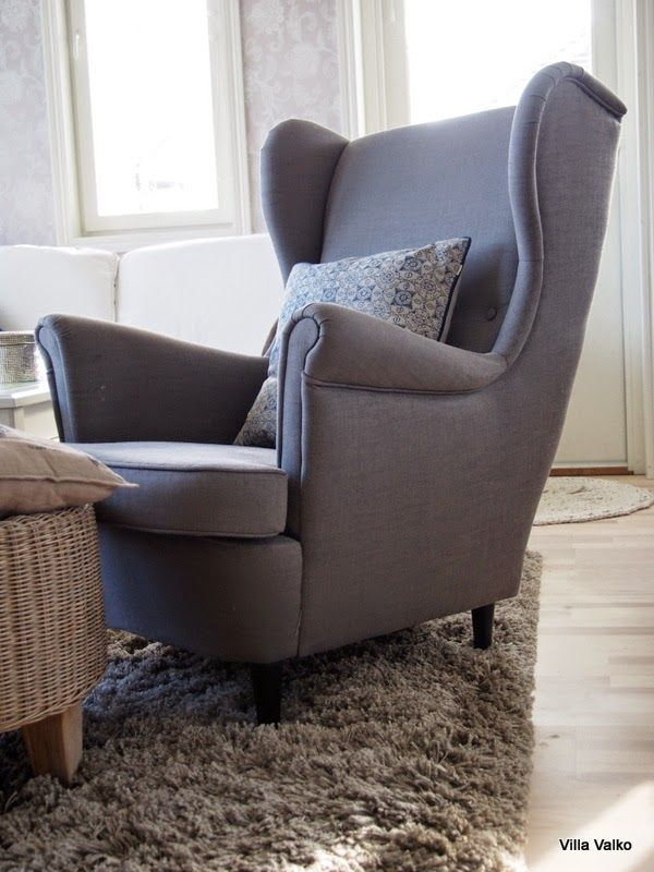 Villa Valko: Harmaa nojatuoli ikeasta  grey armchair from ikea villavalko.blogspot.fi