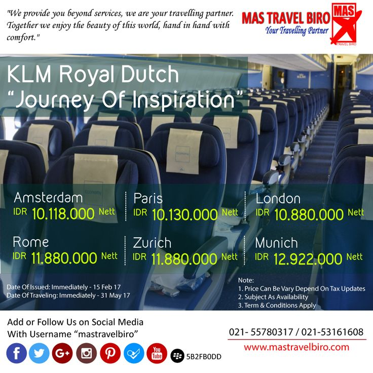 Flight to Amsterdam Only IDR 10.118.000 Nett PP , Book Now ! ;) #mastravelbiro #tiketpromo #klm #amsterdam #paris