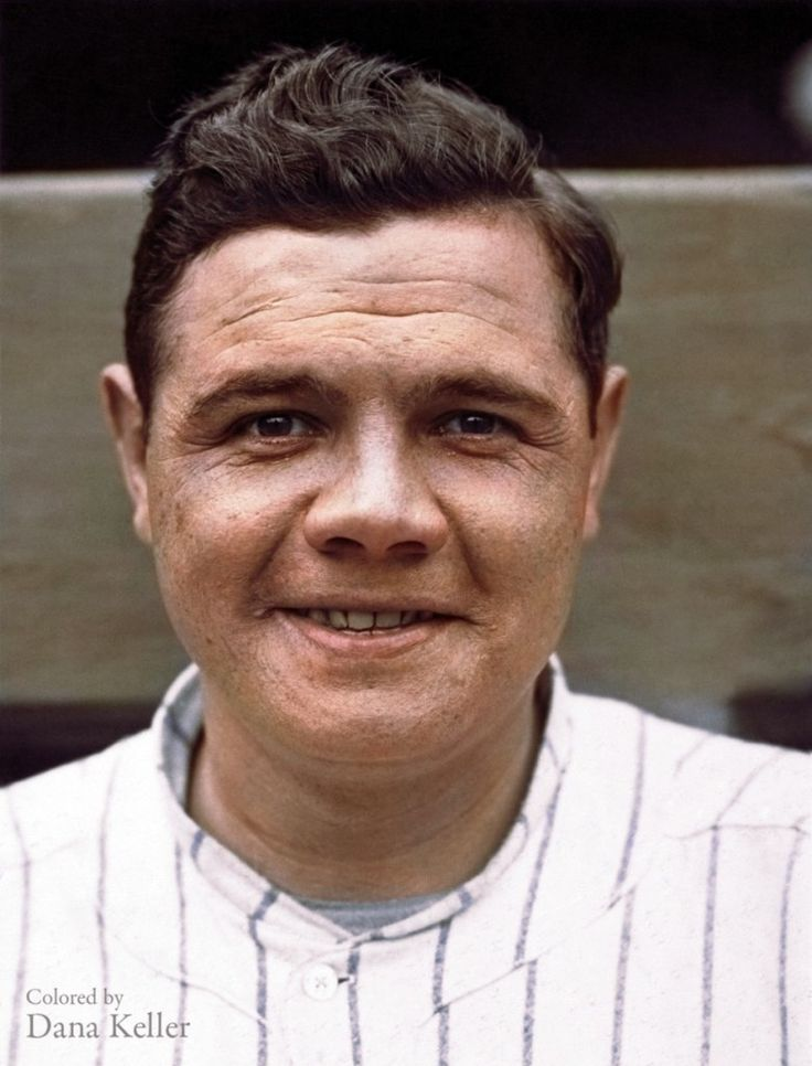 """Too Cool! 54 """"Colorized"""" Photos From Last Century - Babe Ruth's 1920 MLB debut"""