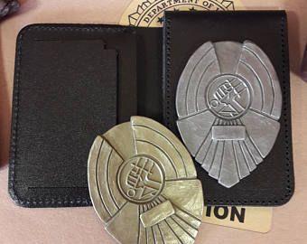 Hellboy BPRD Police Badge & Wallet