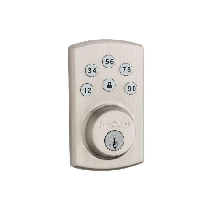 Kwikset Powerbolt2 Single Cylinder Satin Nickel Electronic Deadbolt Featuring SmartKey-907 15 SCAL SCS CP PWRBOLT NEXT G - The Home Depot