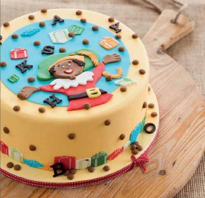 Sint-Knutsel idee: Zwarte Piet Taart