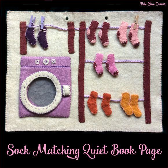 Sock Matching Quiet Book Page