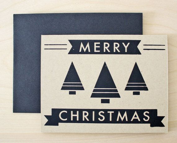 Merry Christmas Tree Card, $5 by Sass + Peril