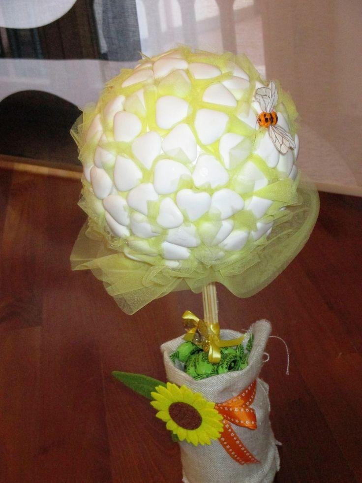Alberino di confetti- bimbi party - matrimonio giallo- tema miele e api