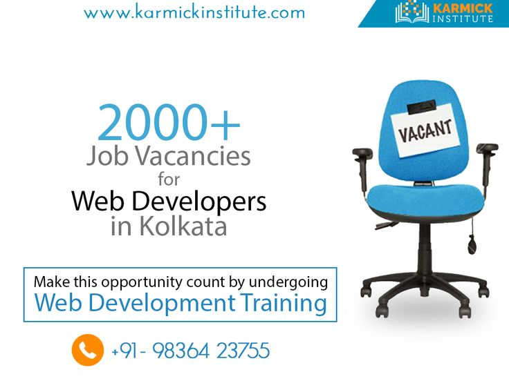 More than 2000 jobs on offer for #WebDevelopers. To make this opportunity count dial: +91-9836423755/ karmickinstitute.com #jobs #career