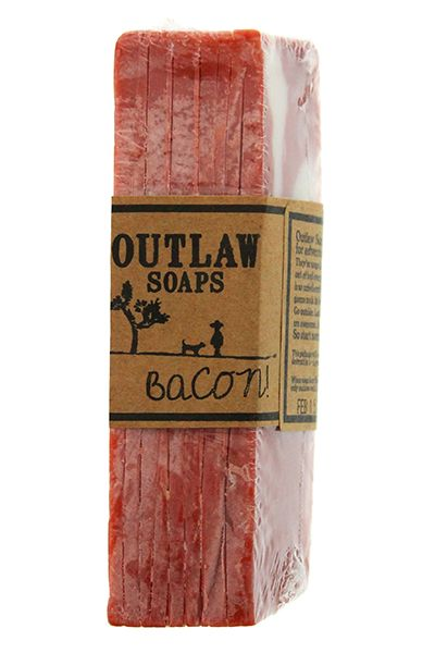 Outlaw Bacon Soap #packaging. I don't know why you'd want to bathe in bacon…