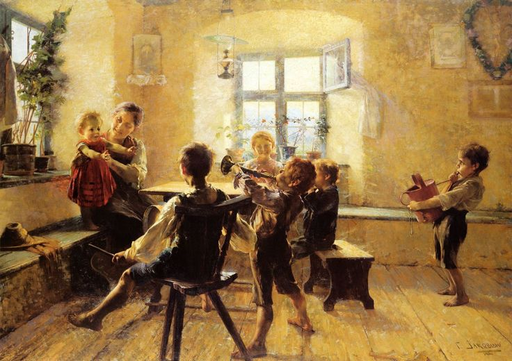 Children's concert (1894) by Georgios Jakobides