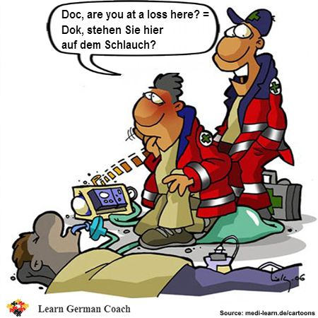 Funny German Expression for English Phrase to Not Have a Clue, to Be at a Loss, to Not Get It: Auf dem Schlauch stehen