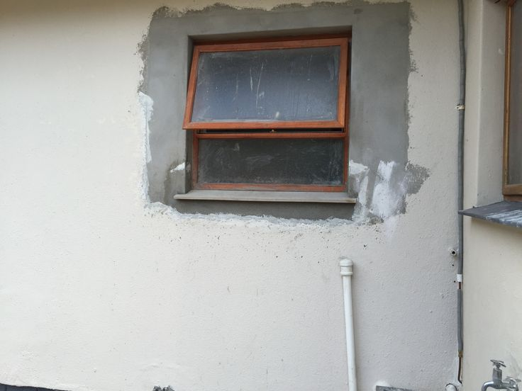 Replacing a old steel window with a new timber window from Swartland.