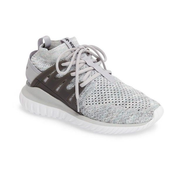Women's Adidas Tubular Nova Primeknit Sneaker ($140) ❤ liked on Polyvore featuring shoes, sneakers, adidas trainers, flexible shoes, breathable sneakers, retro style shoes and adidas shoes