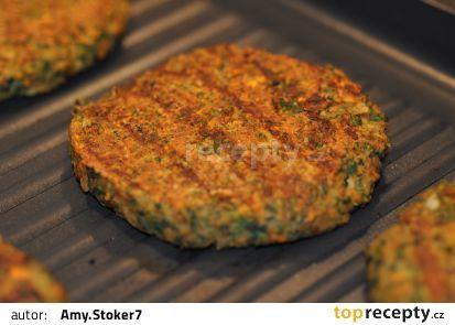 Čočkové burgery (Scott Jurek) - vegan recept - TopRecepty.cz