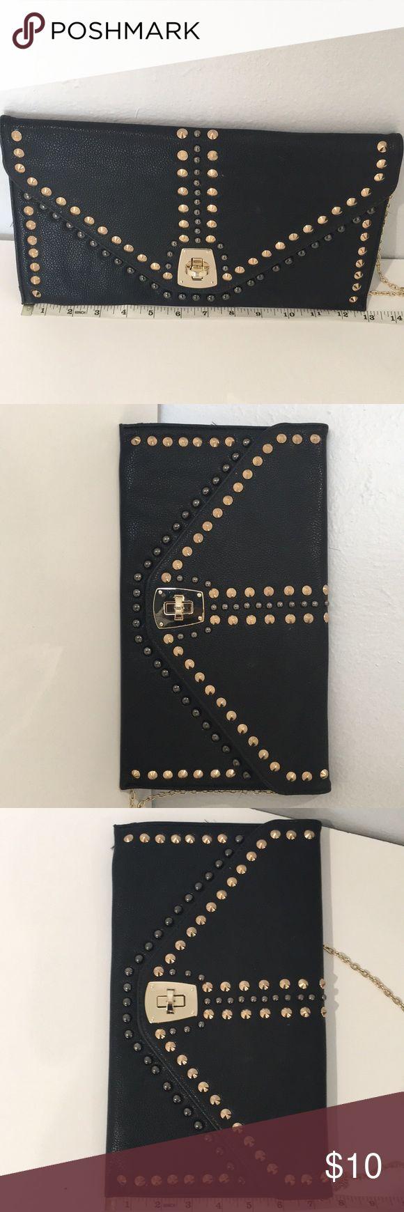 Clutch/crossbody bag Brand new clutch/crossbody bag with gold studs MMS Design Studio Bags Clutches & Wristlets