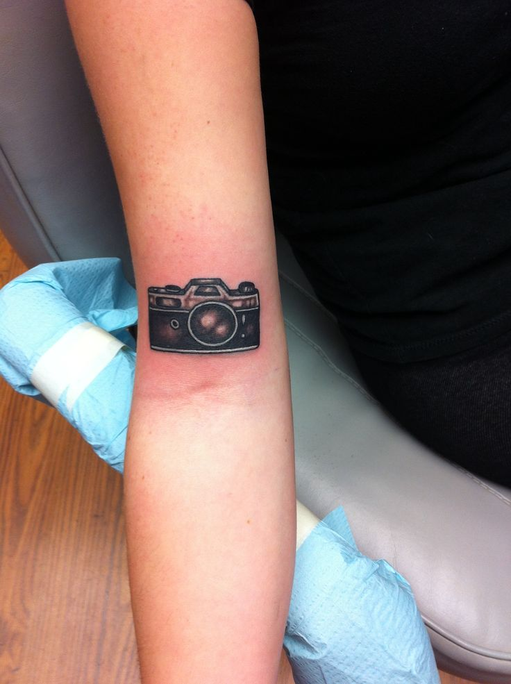 Little camera tattoo